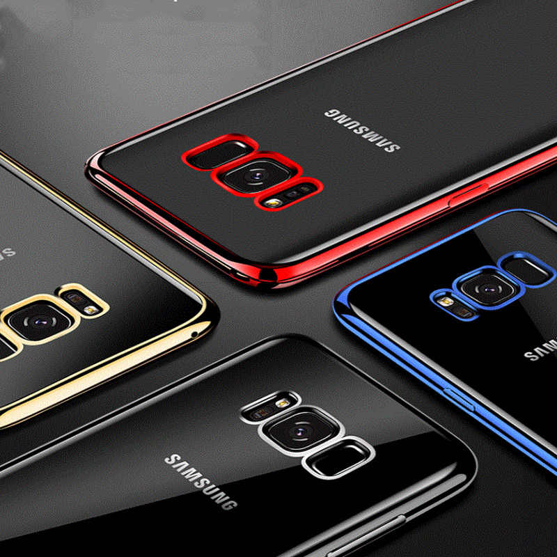 Mewah Plating Silikon Case untuk Samsung Galaxy S6 S7 EDGE Samsung S9 S8 Plus S3 S4 S5 Samsung Note 3 4 5 Note 8 Cell Phone Cover