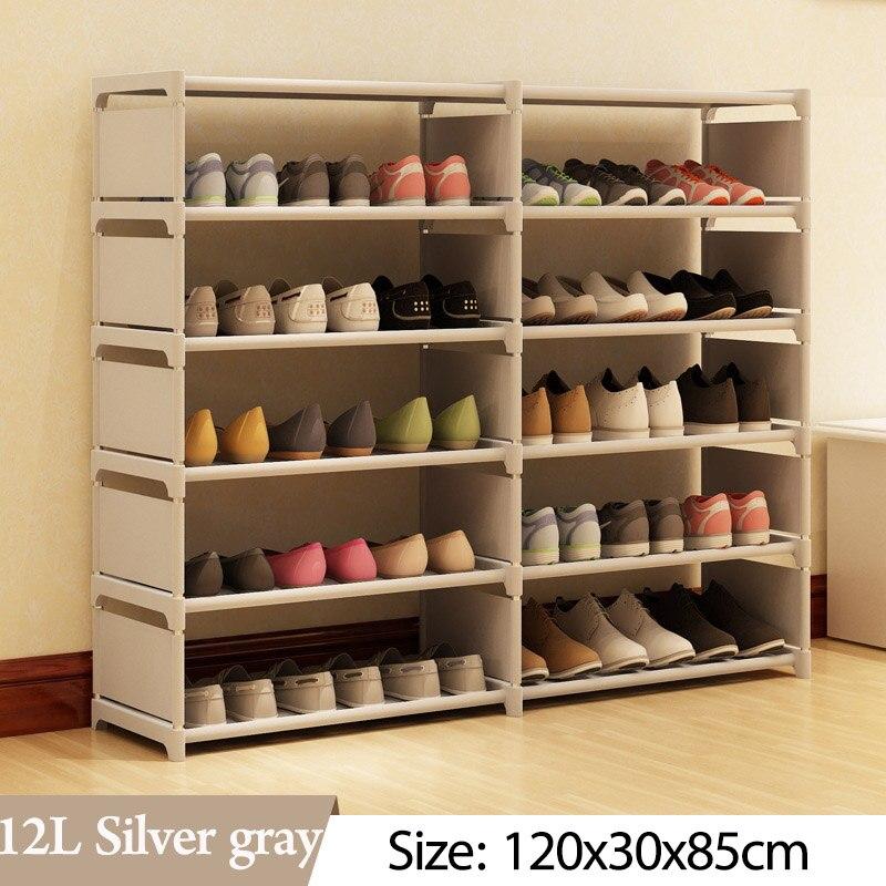 Image 5 - 5 слоев 10 сетчатый стеллаж для обуви из нетканого материала в сборе обувной шкаф для дома, гостиной, мебели, органайзер для обуви, шкаф для хранения-in Обувные шкафы from Мебель on AliExpress