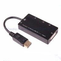 DP TO HDMI VGA DVI Audio 4 In 1 Adapter Cable Displayport TO HDMI VGA DVI