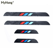 4D M styling Carbon Fiber Car Sill Protectors Door Sill Cover Stickers For BMW X3 X4 F25 F26 2011 to 2016 4Pcs Car Accessories high quality 100% real carbon fiber auto outer door handle cover for bmw 4 series f32 f33 f36 x1 e84 x3 f25 x4 f26 car styling