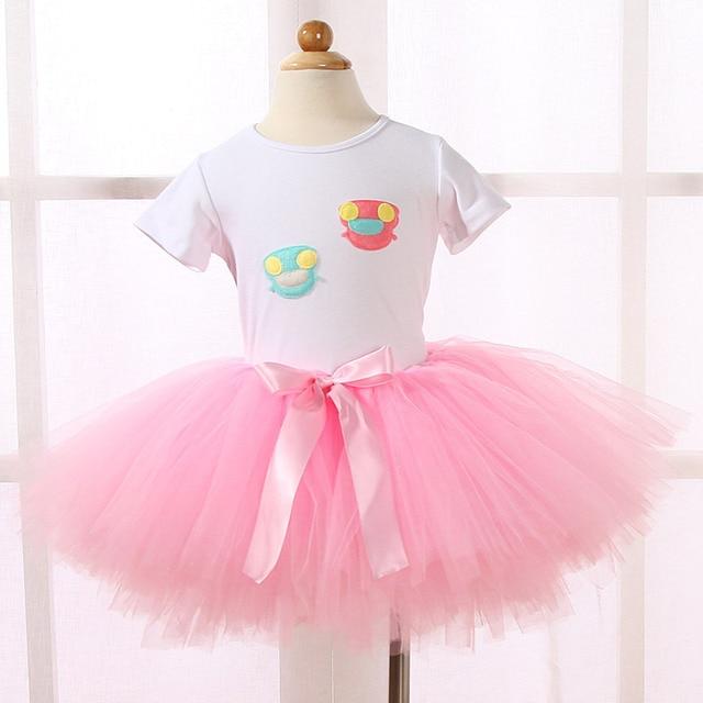 Handmade Girls Tutu Skirt Fluffy Ballet Pettiskirts Baby Skirts Kids Princess Children Party