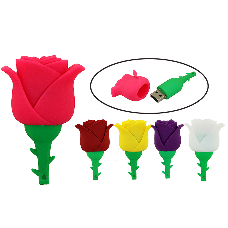 Usb flash drive Rose flower Beautiful Artificial flower 4G pendrive 64G 32G 16G love Gift Rose Pen disk memory stick 8G U disk