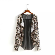 Nice Autumn Women Leopard Blouses Fashion Cardigan Shirts Long Sleeve Casual Loose Blouse Style Women Blusa Tops AF0288