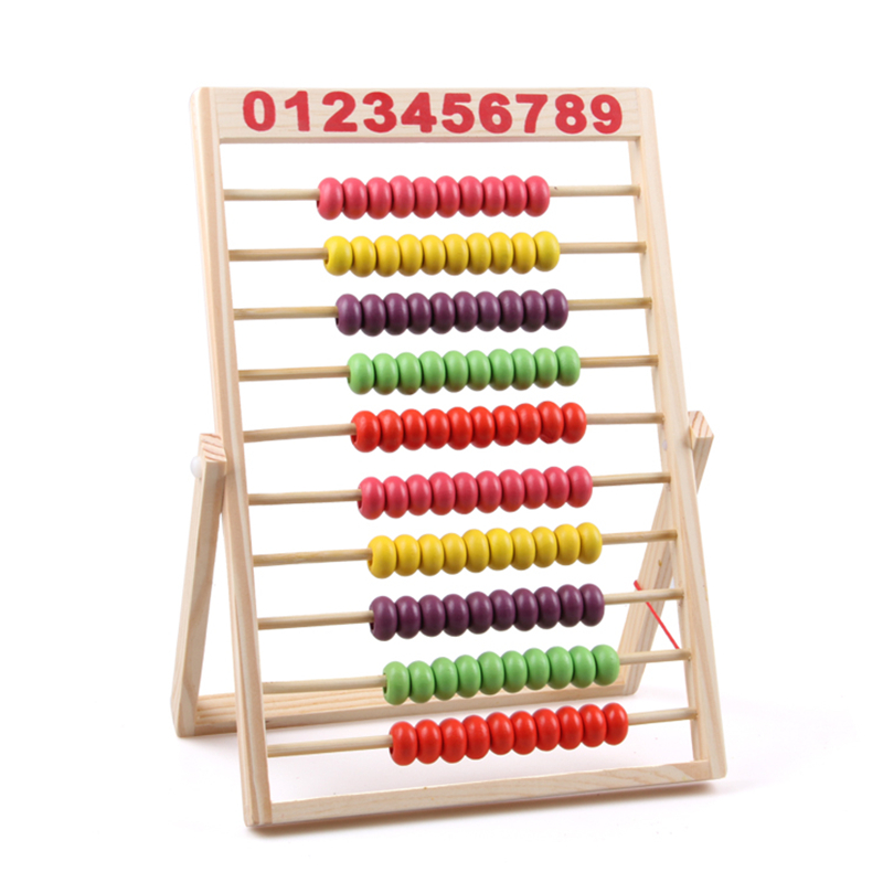 10-Row Classic Beads Wooden Abacus Child Educational Calculate Count Numbers Math Toys for Children kids wooden math toys children math calculate game toys child learning educational toys baby montessori materials calculate toys