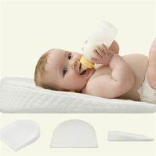 PUDCOCO-almohada de sueño de bebé recién nacido, cojín antireflujo de algodón con cuña de posicionamiento para cuna de leche