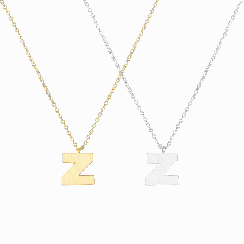 Letter Z Necklace ALP AliExpress