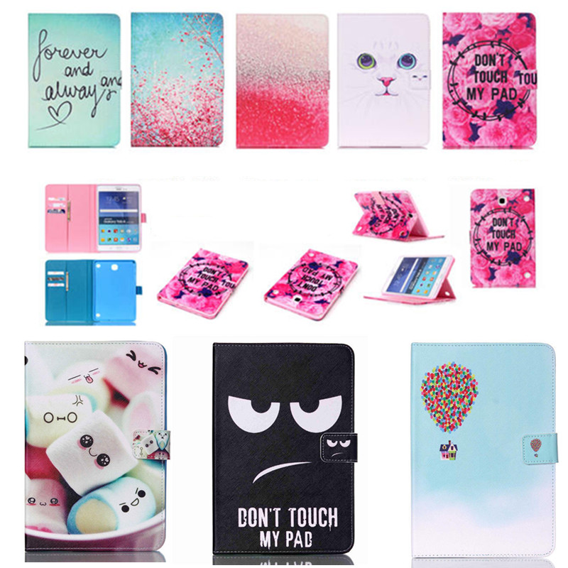 New YB Cute Painting Magnetic Cover PU Leather Case for Samsung Galaxy Tab A 8.0 T350 T355 P355C P350 Tablet Flip Book Stand