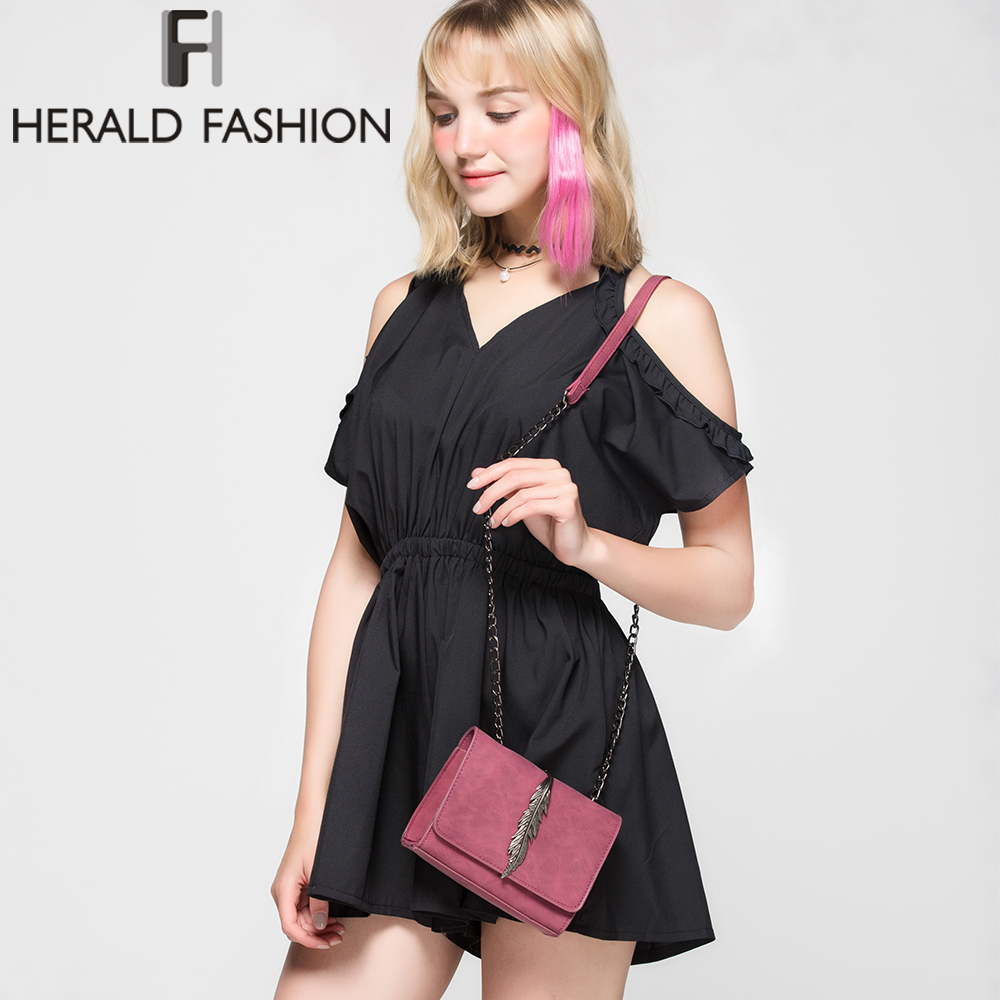 Fashion Leaves Decorated Mini Flap Bag PU Leather Small Women Shoulder Bag