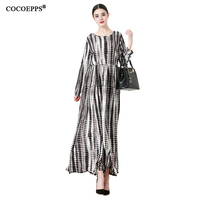 5xl 6xl Vintage Plus Size Women Long Dress Large Big Size 2018 New Dresses Elegant Maxi