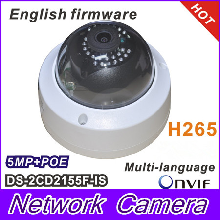 Free shipping Hikvision New model DS-2CD2155F-IS 5Mp Audio Alarm I/O interface Dome CCTV Camera POE IP H265 change up intermediate teachers pack 1 audio cd 1 cd rom test maker