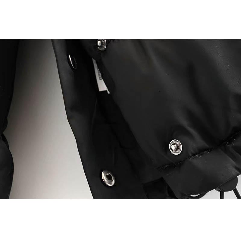 Hiver Manches Chaud Zipper Lâche Capuche Coton Manteau Dames Jacket De Nouvelle Noir À Mode Longues rIOr7w