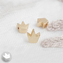 50PCS 5.5*5MM 24K Champagne Gold Color Plated Brass Crown Spacer Beads Diy Jewelry Findings Accessories Wholesale недорого