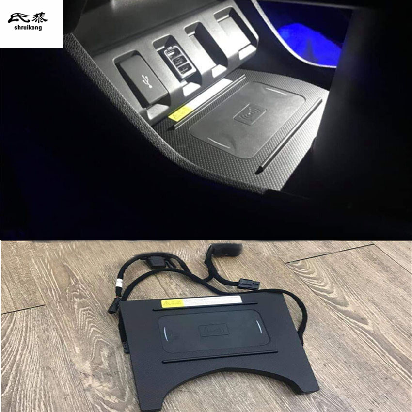 10W QI Wireless Charging Phone Charger Fast Charging Plate Panel Phone Holder For 2015-2018 HONDA HR-V HRV