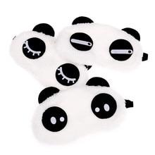 Новая Милая маска для лица белая маска глаза панды тени для век хлопковые очки для сна маска для глаз маска для сна покрытие для глаз инструменты для ухода за здоровьем
