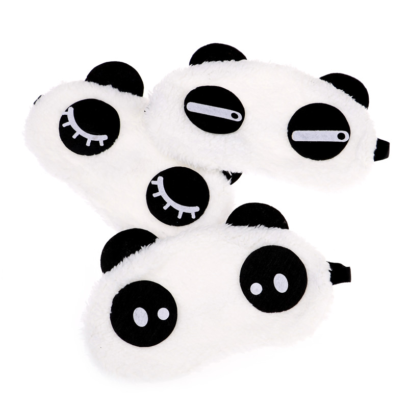 New Cute Face White Panda Eye Mask Eyeshade Shading Sleep Cotton Goggles Eye Mask Sleep Mask Eye Cover Health Care Tools