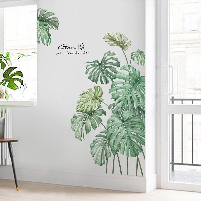1 Pc Diy Kreative Strand Palm Blatt Kühlschrank Aufkleber Wohnzimmer Veranda Wand Dekoration Wand Aufkleber 60*90 Cm Wand Aufkleber HüBsch Und Bunt