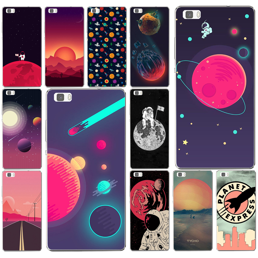 Phone Bags & Cases Honesty 255ad Space Moons Cartoon Hard Transparent Cover For Huawei P8 P8 P9 P10 Lite Y5 Ii Honor 4c 5c 7 8 & Nova Supplement The Vital Energy And Nourish Yin