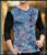 Los hombres de Moda T-shirt 2016 Otoño V Cuello de Terciopelo de manga larga camiseta Homme homme del hombre más el tamaño delgado de Tes Superior 5XL 4XL M