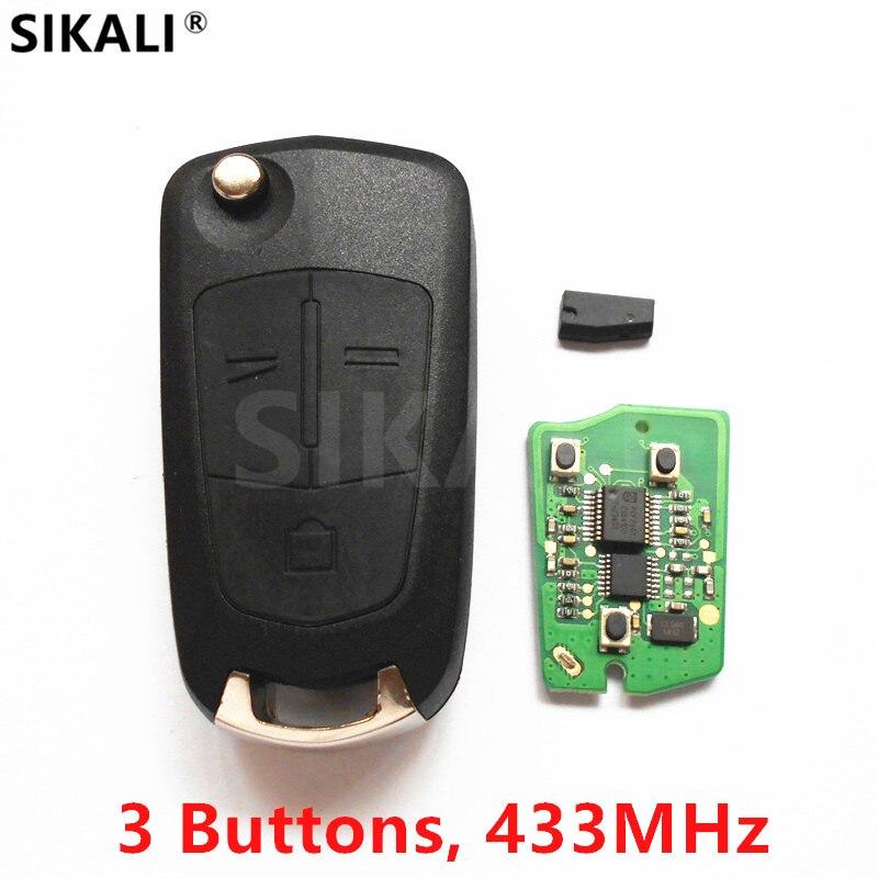 SIKALI 3 Boutons À Distance Clé 433.92 MHz pour Chevrolet Captiva Voiture Véhicule Sans Clé Fob avec Puce ID46 2011-2014