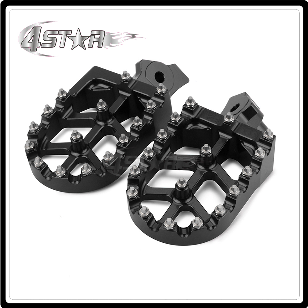 CNC Motorcycle Foot Pegs Pedals Rests For KAWASAKI KLR650 KLR 650 1987-1995 1996 1997 1998 1999 2000 2001 2002 2003 2004 2005 motorcycle cnc split riser clip on handle bars for kawasaki zx6e 1993 1995 zx6r 1995 1997 black
