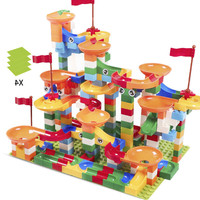 296 PCS Marble Race Run Maze Ball Track Building Blocks ABS Funnel Slide Assemble Bricks Compatible LegoING Duplo Blocks kid toy
