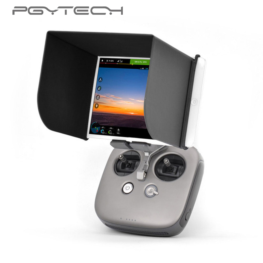 PGYTECH For DJI Mavic Pro DJI Osmo Phantom 4/3 Remote Control Sunshade Hood Controller Monitor Sun Hood For 9.7 inch PAD L200