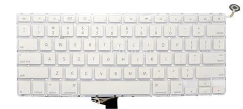 """1 lote/5 pcs para apple macbook unibody a1342 13 """"botão de energia teclado eua layout sem descanso de mãos"""
