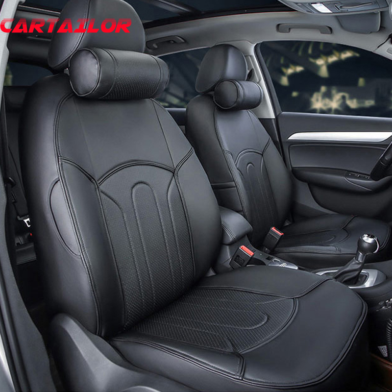 cartailor car seat cover for ford mondeo 2015 2014 pu leather seat covers black seat cushion. Black Bedroom Furniture Sets. Home Design Ideas