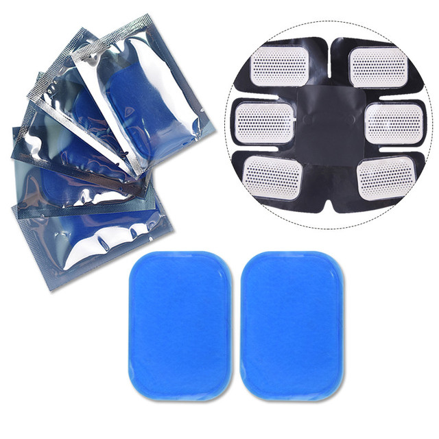 5 Pair(10pc)  Replacement Gel Pads For EMS Trainer Abdominal Muscle Stimulator Exerciser Replacement Massage Gel Patch 4