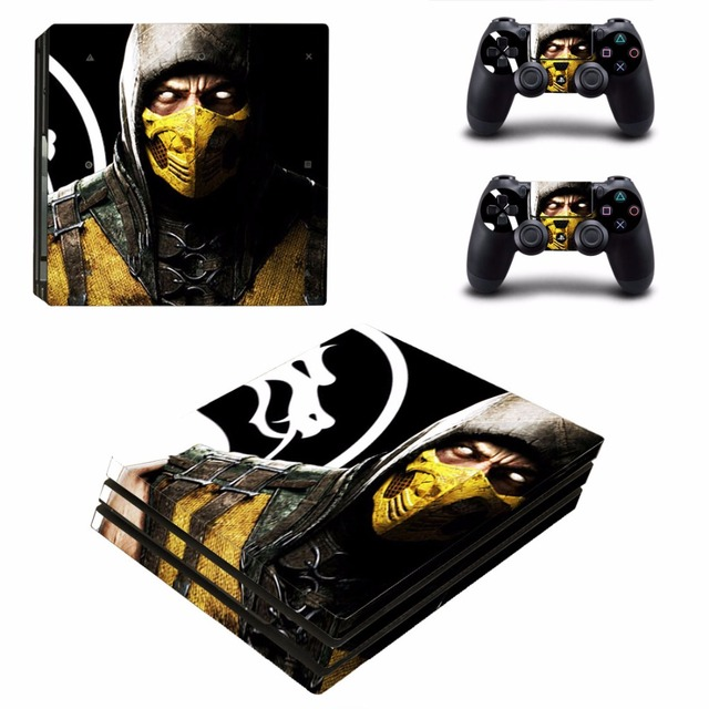 US $9 49 5% OFF|Game Mortal Kombat PS4 Pro Skin Sticker For Sony  PlayStation 4 Pro Console and Controller For Dualshock 4 PS4 Pro Sticker  Decal-in