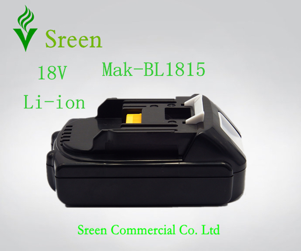 Новый 18 В Литий-Ионный 1500 мАч Сменный Аккумулятор для Makita Мощный Инструмент Батареи BL1815 LXT400 194205-3 194230-4 BL1830