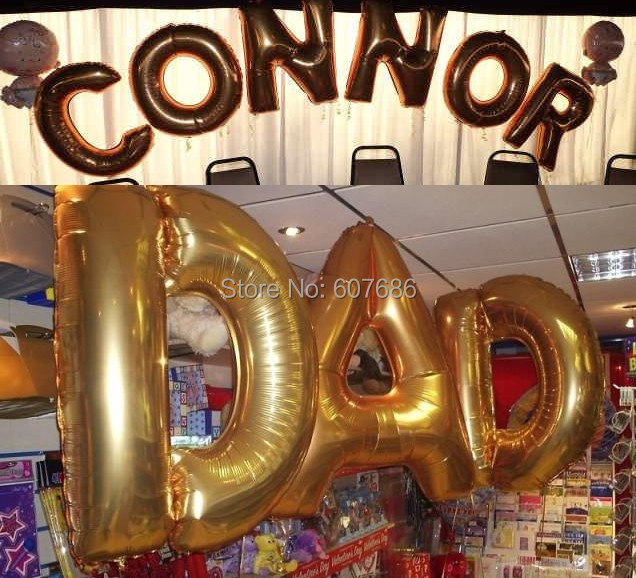 24 Pieces Wedding Foil Helium Alphabet 40 Inch Large Letter Balloons