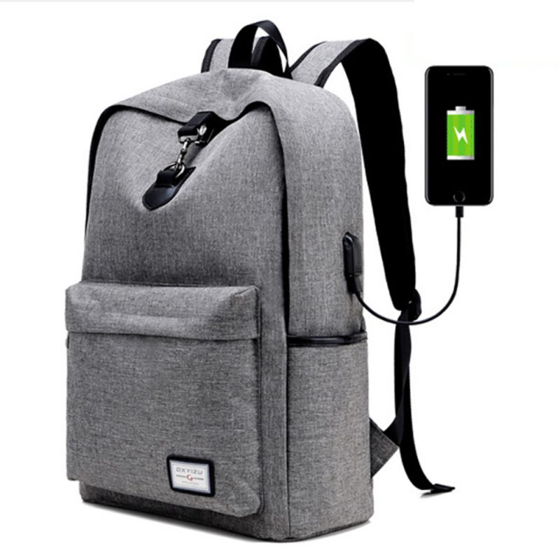 Climbing USB Charging Men's Backpacks Male Travel Camping Teenagers Bags Simple Notebook Laptop Bags