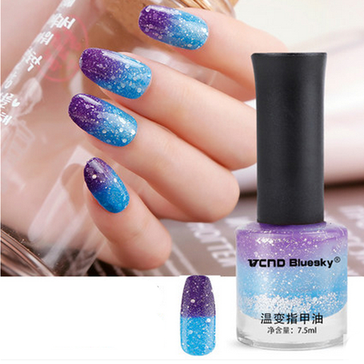 Aliexpress.com : Buy SkyBlue to Purple Color Changing Nail Polish ...