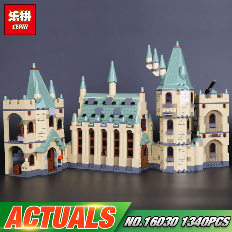 Lepin 16030 Movie Series The Hogwarts Castle Set 1340pcs Building Blocks Bricks Compatible 4842 Educational Toys Model As Gift lepin 02020 965pcs city series the new police station set children educational building blocks bricks toys model for gift 60141