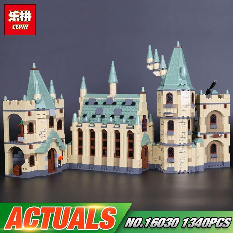 Lepin 16030 serie de películas The Hogwarts Castle Set 1340 piezas bloques unids de construcción ladrillos compatibles 4842 juguetes educativos modelo como regalo