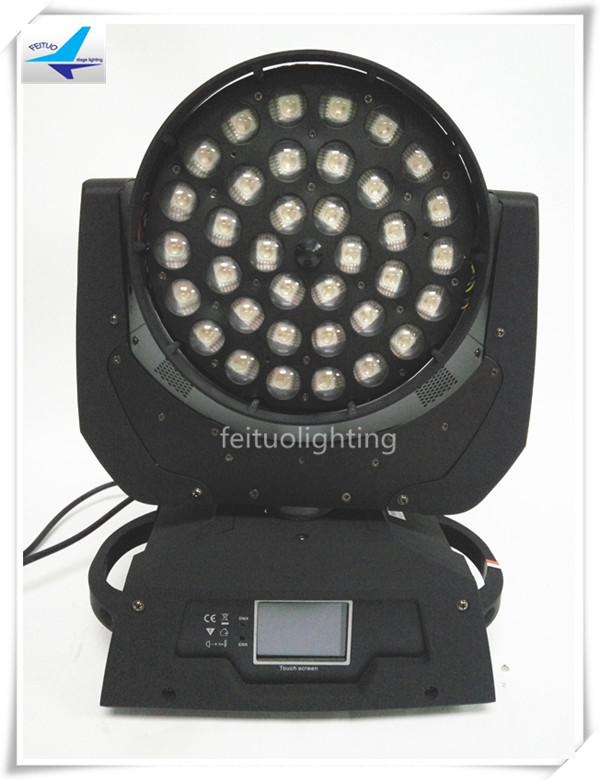 4pcs/lot flightcase 36X18W Zoom Led Wash Moving Head Light RGBWA UV 6in1 Professional Strobe Disco Club Stage Wedding Lighting