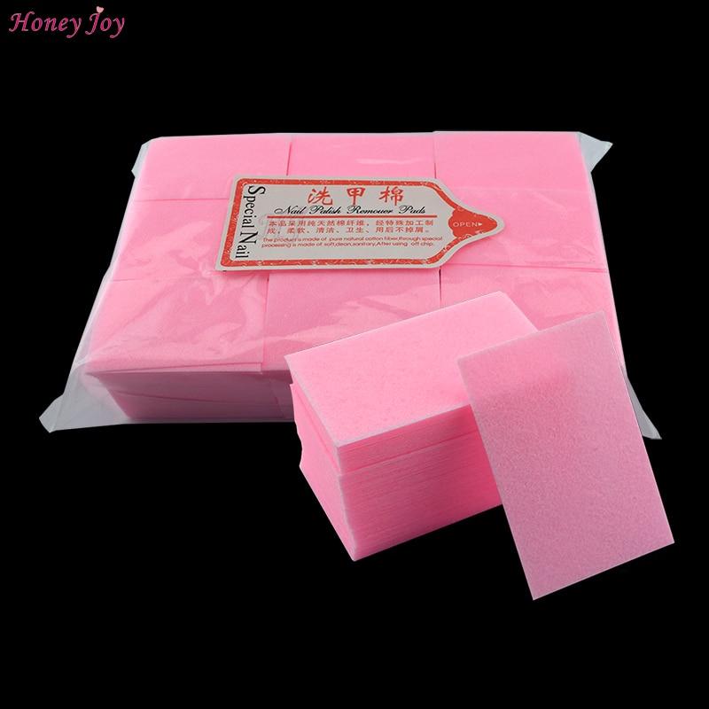122 gram/bag Épais Solide Durable Gel Nail Polish Remover Lingettes Non Pelucheux Coton Pad Nail Art Outils De Bain Manucure complices Rose