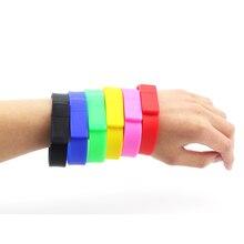 USB 2.0 Flash Memory Yellow Red Green Blue White Black White Wrist Band Bracelet Stick Pen Drive U Disk 8GB