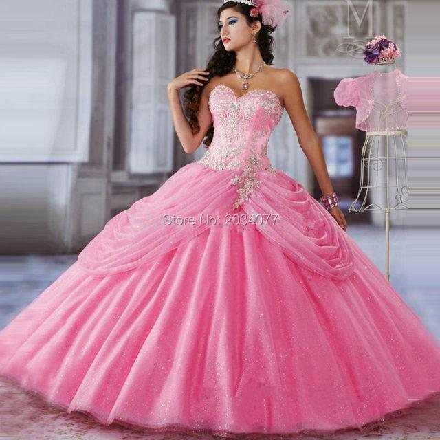 Color de Rosa caliente vestidos de bola Azul Marino Vestidos Debut ...