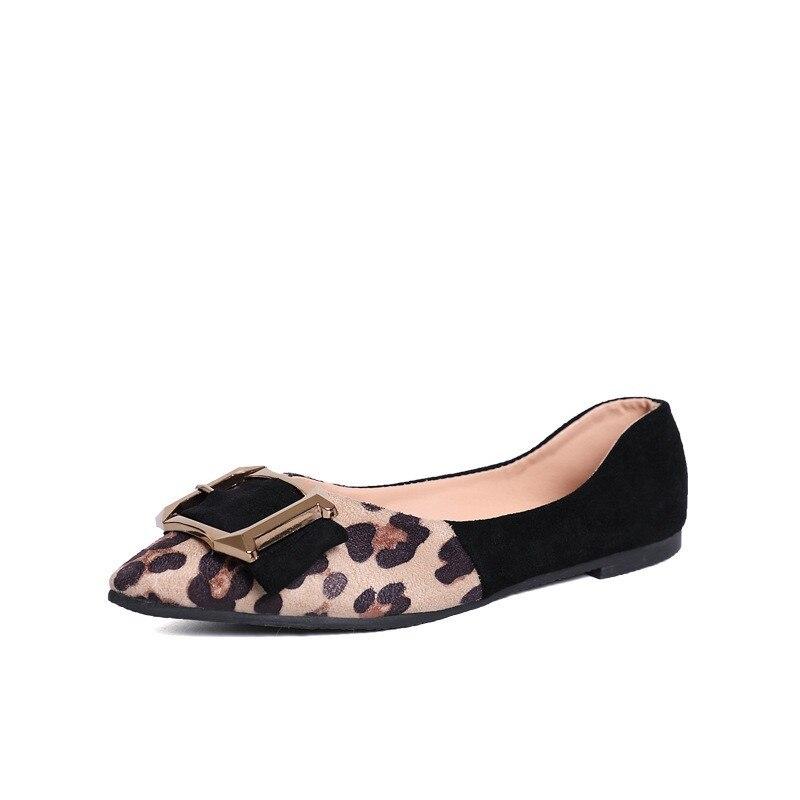 100% QualitäT Leopard Schuhe Slip Auf Loafers Frauen 2019 Flache Schuhe Frauen Frühling Schuhe Mokassins Für Frauen Hohe Qualität