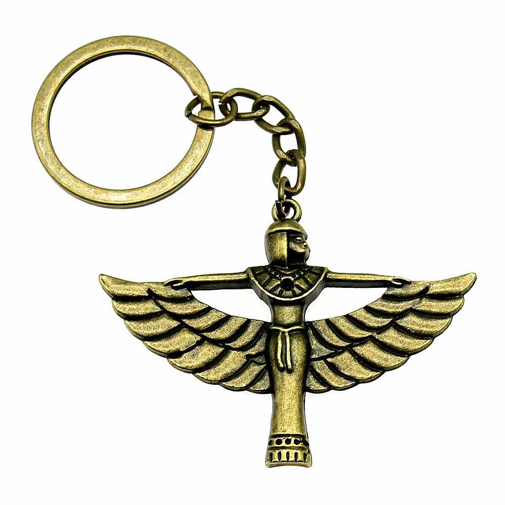 Vintage Motorcycle Keychain Egyptian Pharaoh Key Car Keychains Handmade DIY Men Jewelry Key Chain Key Ring For Women in Key Chains from Jewelry Accessories
