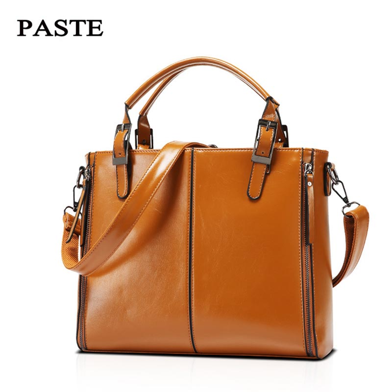 Vintage Casual Totes Women Messenger Bags High Quality Oil wax Leather Shoulder Bag Clutch Female Purse Gift Bags Ladies Handbag маленькая сумочка women bag atrra yo women bags for women messenger bags ladies clutch shoulder bag wallet