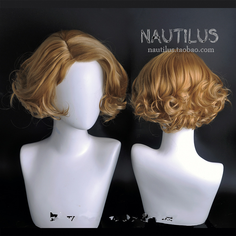 Fantastic Beasts And Where To Find Them Queenie Goldstein Wig Short Wavy Golden Wig Queenie Role Play Blonde Hair Costumes