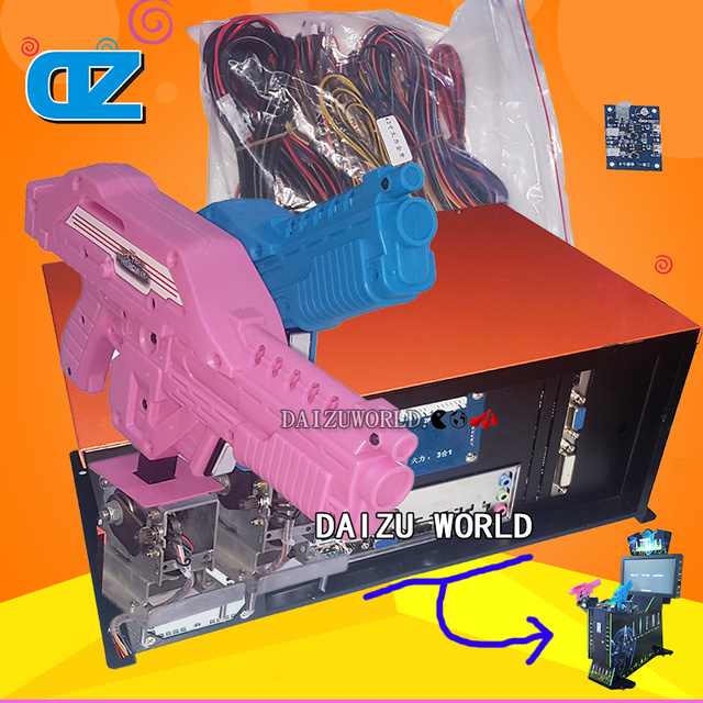 Coin-operated game consoless/hooting game consoles/Arcade Machine Kits/Alien, Vietnam, House of dead , three in one