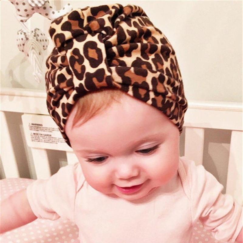 Spring autumn baby hat Soft Leopard baby kids Beanies Caps for 3-8 years kids Girls Hats Bohemia Style Childrens Accessories R4