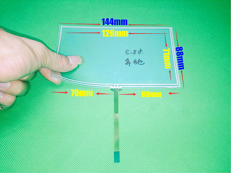 TOUCH For 5.8 inch 144mm*88mm 144*88mm 4 wire Resistive Touch screen digitizer panel CAR GPS Navigation Touch Screen Panel amt 146 115 4 wire resistive touch screen ito 6 4 touch 4 line board touch glass amt9525 wide temperature touch screen
