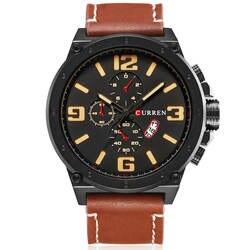 Curren Кварцевые Для мужчин часы лучший бренд роскошных Водонепроницаемый армии Военная Униформа кожа часы мужской часы Для мужчин