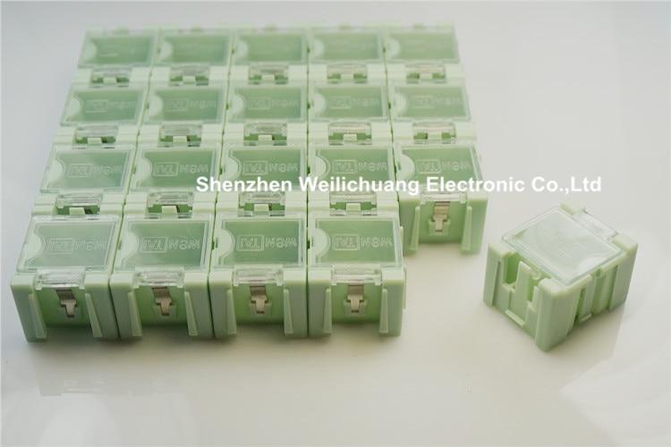 50 шт. высокое качество SMD монтажа электронных компонентов мини ящик для хранения/практические ювелирные изделия футляр для хранения прозрачной крышкой