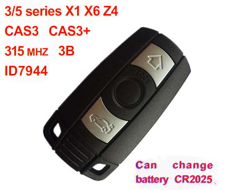 ٩ ۶2pcs Lot For Bmw X1 X6 Z4 3 5 Series Cas3 Smart Key 3 Button